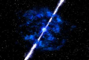 Artists Conception of a Gamma Ray Burst