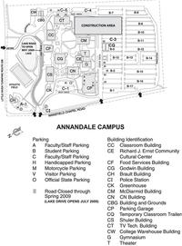 Northern Virginia Community College - Annandale Campus Map