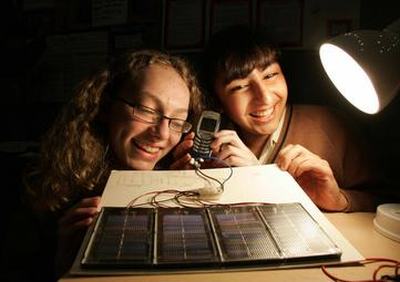 SciFest 2009 Students with Solar Cell Phone Charger