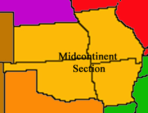 Graphic of the extent of the Midcontinent NAGT Section