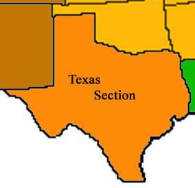 Graphic of the extent of the Texas NAGT Section